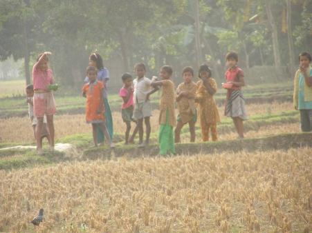 kids in the field