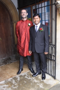 The groom and his dashing Best Man!