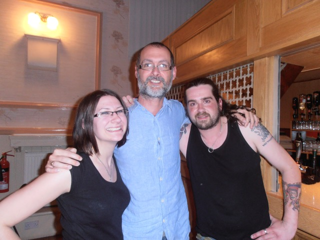 Myself with director Rachel Denwood and Chris simpson who plays Dave