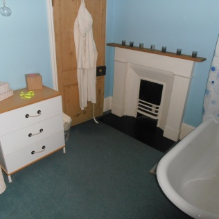 Yes - our bathroom comes complete with a fireplace too!
