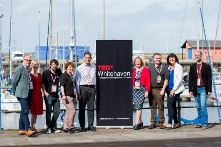 Group shot on the lovely Whitehaven harbour (photo: Gary McKeating)